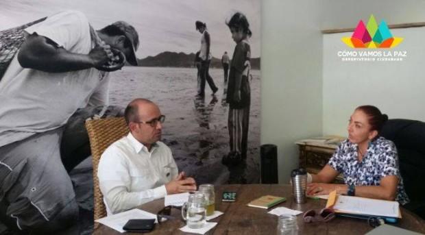 Miguel Ángel Ojeda Ruiz de la Peña  Director de Vinculación, Innovación y Transferencia Tecnológica de la UABCS y Cómo Vamos La Paz en gestión de  futuras acciones.