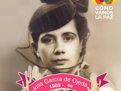 Julia García de Ojeda, pionera de la participación femenina en BCS