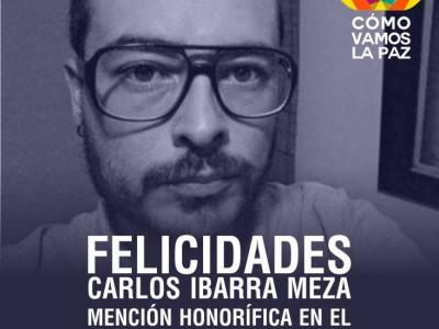 CARLOS IBARRA PERIODISTA SUDCALIFORNIANO RECIBE MENCIÓN HONORÍFICA   NACIONAL DIVULGACIÓN PERIODÍSTICA EN SUSTENTABILIDAD 2015