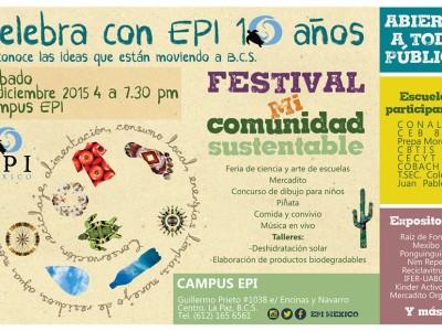 EPI festejará 10 años invitando a constuir una comunidad más sustentable.