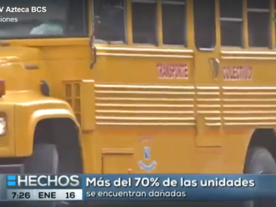El transporte público de la ciudad de La Paz no es apto para prestar servicio.