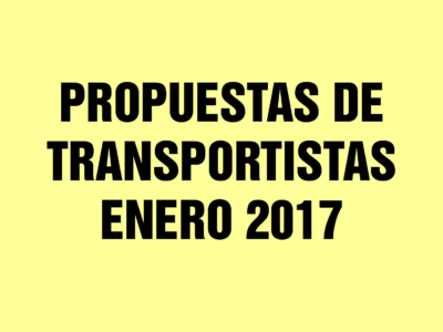 Propuestas de incremento al transporte público