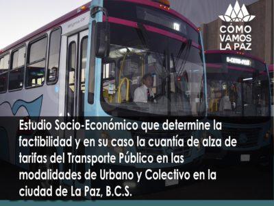 Estudio Técnico de Tarifas del Transporte Público La Paz