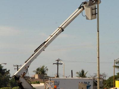 Colocarán 2143 luminarias nuevas en La Paz