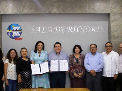 Firma de Convenio de colaboración UABCS y Cómo Vamos La Paz.