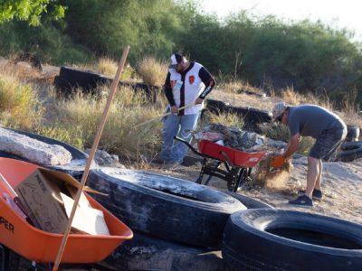 160 toneladas de basura arrojan los arroyos El Piojillo y El Cajoncito