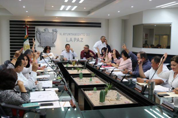 XIX Sesión ordinaria de cabildo del XVI Ayuntamiento de La Paz