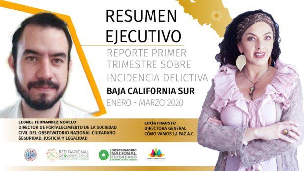 Reporte Trimestral de Incidencia Delictiva en Baja California Sur Enero-Marzo 2020