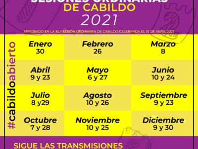 ¿Ya conoces el calendario ordinario de sesiones 2021 del XVI Ayuntamiento de La Paz?
